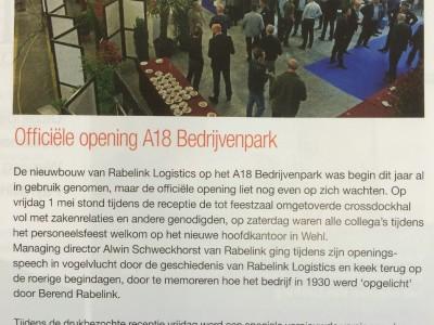 Rabelink in Kijk op Oost-Nederland juli 2015
