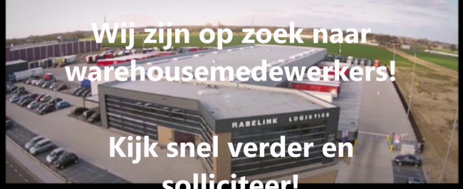 Rabelink vacature warehousemedewerkers