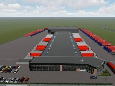 Schets nieuwe situatie Rabelink Logistics A18 Bedrijvenpark